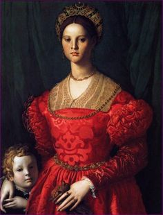 Agnolo Bronzino - A Young Woman and her Little Boy