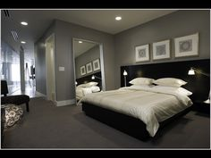 Find This Pin And More On Bedroom Decor Dark Grey Walls