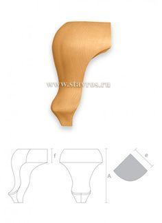 гнутая мебельная ножка точеная MN-005