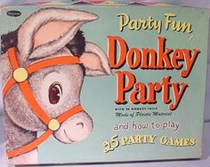 I remember playing Pin the Tail on the Donkey at my birthday party; the box looks the same as mine!