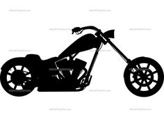 motercycle siluets | Displaying (19) Gallery Images For Chopper Motorcycle Silhouette...