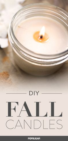 Aromatic, DIY pumpkin candle perfect for Thanksgiving.