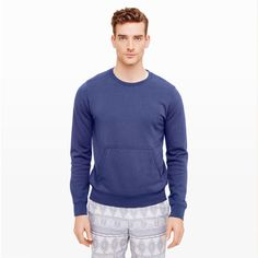 Quilted-Shoulder Sweatshirt - Activewear Men at Club Monaco