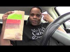 Burger King Chicken Burger Raw & Uncut