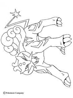 Pokemon coloring pages Raikou Pokemon, Mega Pokemon, Pokemon Craft, Pokemon Party, Pokemon Sketch, Horse Coloring Pages, Colouring Pages, Coloring Books, Mandalas