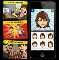 COMIC STRIP ON THE GO~  Create an avatar and situation, then add dialogue.  It's really that easy!
