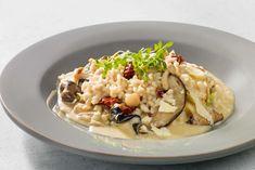 Geschwenkt, nicht gerührt: Risotto mit Pilzen und Brunnenkresse-Salat. #experiencefresh