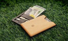 Union Wood Wallet :: holds 6 cards + cash + a key or SD card. And it's beautiful. Sweet.