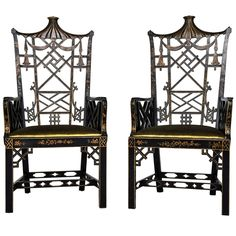 Chinese Chippendale High Back Chairs Chairs with Charm {INDI +TAN inspiration}