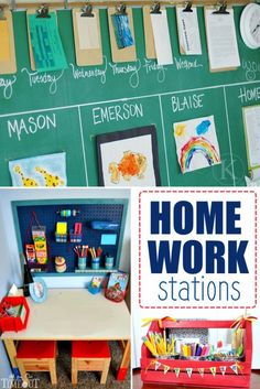 """22 Genius Family """"Stations"""" to Organize Your Life"""