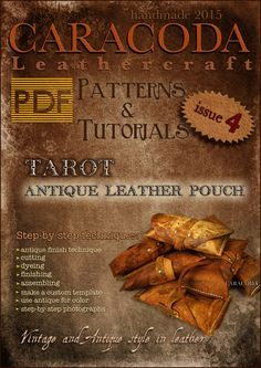 PDF Leathercraft patterns templates antique pouch vintage Tarot case making by CARACODA on Etsy https://www.etsy.com/listing/218735645/pdf-leathercraft-patterns-templates