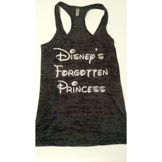 Disney's Forgotten Princess.Womens Workout Tank Top. Fitness Tank... ❤ liked on Polyvore featuring activewear, activewear tops и disney