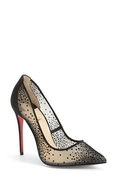 Christian Louboutin 'Follies' Mesh Pointy Toe Pump available at #Nordstrom