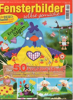 Fensterbilder - Tavasz - jana rakovska - Picasa Webalbumok Magazine Crafts, Magazines For Kids, Easter Activities, Book Folding, Tole Painting, Paper Decorations, Embroidery Applique, Classroom Decor, Easter Crafts