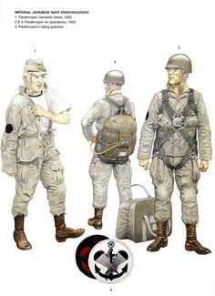 Paracaidista de la marina japonesa