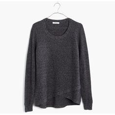 MADEWELL Feature Pullover Sweater ($60) ❤ liked on Polyvore featuring tops, sweaters, marled cinder, sweater pullover, layered sweater, madewell, layered tops and pullover tops