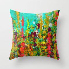 Green Garden Throw Pillow by Antepara - $20.00