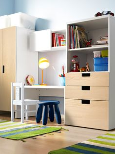 Give all those new toys a new home! The STUVA storage combination from IKEA is built at the right height for your little one - so it's easier for them to take out their toys (or put them away)!