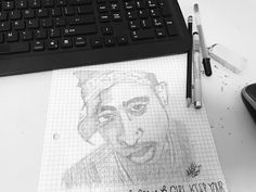 Quick Sketch of Tupac while listening to Tupac