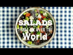 Second stop of our food world tour, 10 Salads from All Over the World! Because sandwiches are not the only universal dish, we selected 10 of the most delicio. Easy Salad Recipes, Easy Salads, Healthy Recipes, Healthy Foods, Eat Right, Soup And Salad, Food Videos, Interesting Salads, Veggies