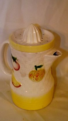 vtg Napco ceramic fruit Juice pitcher with by NostalgicByNature, $17.00