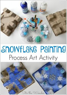 Lately we've been inspired by cardboard packaging to create artwork with them! Check out our most recent Snowflake Painting Process Art Activity!