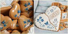 """""""Örök kék"""" mézeskalács szívdoboz"""