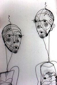 Artist: Diane Komater: Wire Sculpture, detail