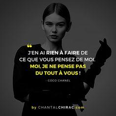 Et si aujourd'hui nous Arrêtions de Penser aux Regards des Autres. Ne leur donnons pas de POUVOIR sur Nous. Vivons Notre Vie comme Nous l'entendons. #estimedesoi #confiance #affirmation #citation #chantalchirac