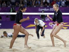Misty May-Treanor and Kerri Walsh Jennings in the 2012 London Olympics - USA Beach Volleyball team #1