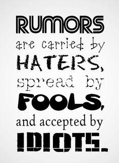 Haters, Rumors, Social network,