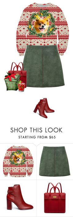 """ugly christmas sweater"" by mimas-style ❤ liked on Polyvore featuring George J. Love, Mercedes Castillo and Mulberry"