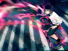 Misaki Yata, HOMRA, Red Clan - K Project, Anime Picture by Yuumei, a wonderful artist!