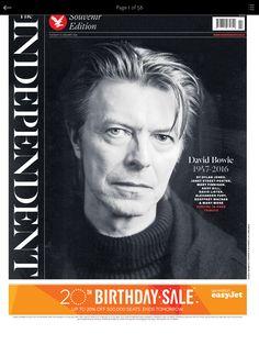 David Bowie death dominates newspaper front pages The World Newspaper, Newspaper Front Pages, David Bowie Pictures, David Bowie Starman, The Thin White Duke, Newspaper Headlines, World Press, Bbc News, The Guardian