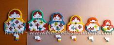 poupées russes en perles soudées - Matryoshas hama perler beads http://mistertrufa.net/librecreacion/culturarte/?p=12