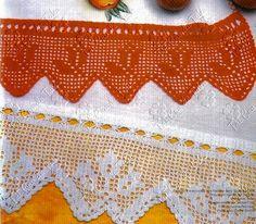 Aproveite que o ano está começando e renove suas toalhas fazendo barrados em crochê...