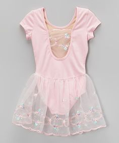 This Pink Embroidered Skirted Leotard - Toddler & Girls is perfect! #zulilyfinds