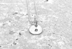 Tiny Initial Necklace Letter s Pendant by GirlBurkeStudios on Etsy, $22.50