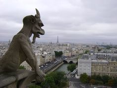 Another place to see Paris in an amazing way...in the bell tower of Notre Dame.  Not too tall to climb, you can actually go in the bell towers themselves, and there's a great view of the city.
