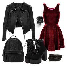 """""""Gothic Dream"""" by hopkanor on Polyvore featuring Linea Pelle and Pieces"""