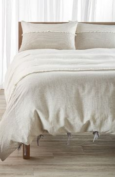 Free shipping and returns on Nordstrom at Home Willa Linen & Cotton Duvet Cover at Nordstrom.com. Muted stripes enhance the classic country charm of an airy linen-and-cotton duvet cover cast in soft neutral hues.