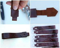 How to make an easy no sew Leather Key Fob