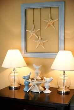 The the frame with star fish could do this and incorporate fishing theme More