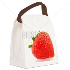 Fresh Strawberries Canvas Lunch Bag Insulated Lunch Bags c854c8580a873