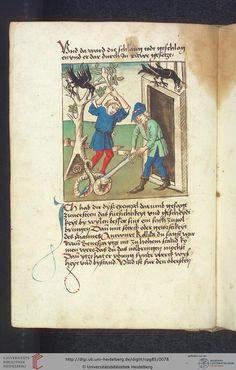 Cod. Pal. germ. 85: Antonius von Pforr: Buch der Beispiele (Schwaben, um 1480/1490), Fol 35v