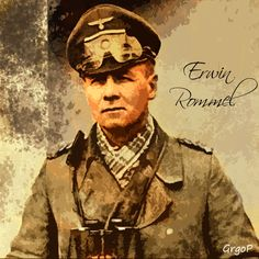 German general in (Northern Africa battle front, Afrikakorps) Erwin Rommel aka The Desert Fox. Erwin Rommel The Desert Fox