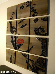 Marilyn Monroe Modern String Art Tablets  Set of 12 by NineRed, $495.00, i could totally do this!!