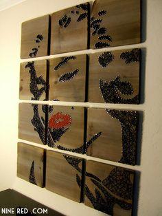 Marilyn Monroe Modern String Art Tablets Set of 12 por NineRed