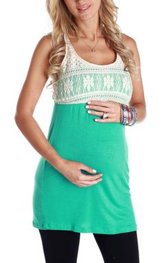 Turquoise-Crochet..super cute and decent prices for maternity clothes.... Doesn't matter if its for maternity... Its freaking ADORABLE!!!!!