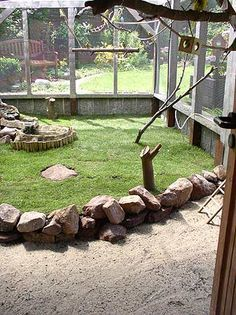 Außenvoliere This is cool for cats Rabbit Shed, Rabbit Run, Rabbit Cages, Rabbit Habitat, Rabbit Enclosure, Reptile Room, Bunny Care, Bird Aviary, Animal Room